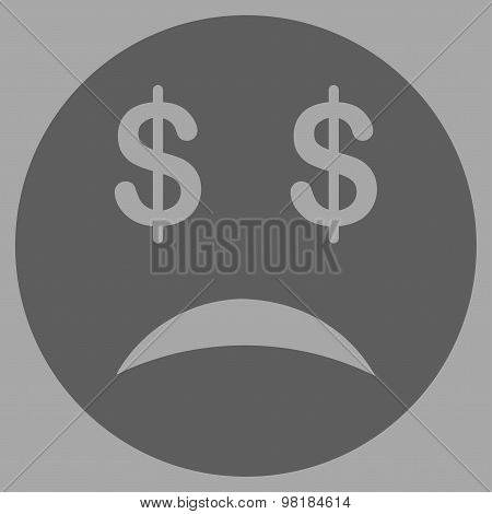 Bankrupt Smiley Icon from Commerce Set