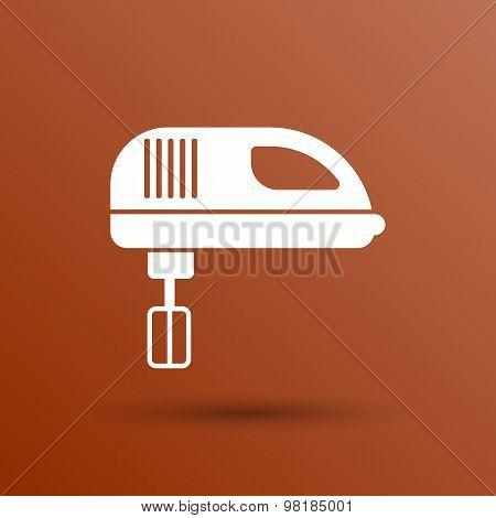 icon mixer electric handmixer hat sign stove