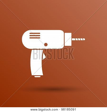 Drill icon  power tool vector hand symbol manual