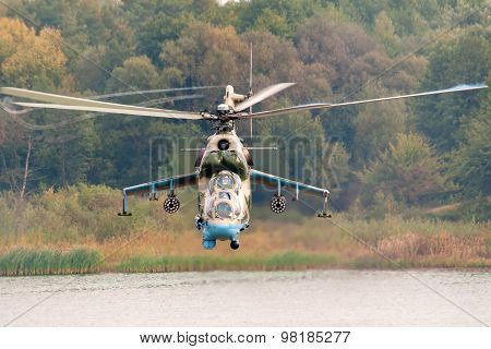 Combat helicopter Mi-24