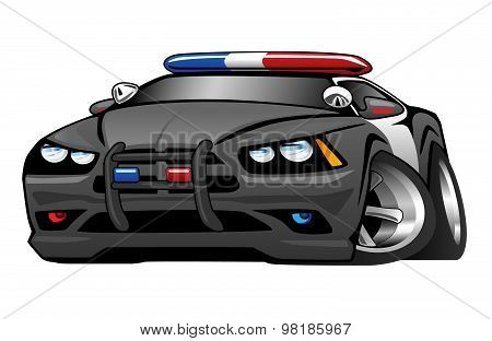 Police Muscle Car Cartoon