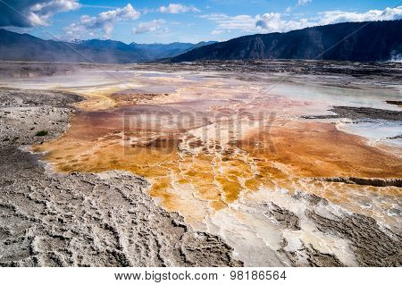 Geological Wonders Of Mammoth Hot Springs Yellowstone Park