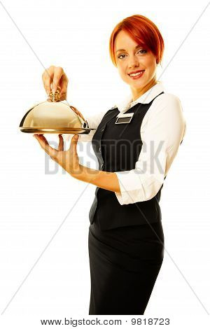 Woman As Restaurant Waitress