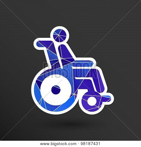 handicapped chair wheelchair invalid transport logo icon