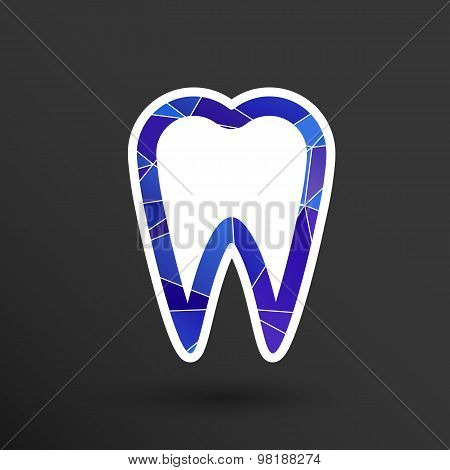 icon toothache vector sign line clinic symbol whitening