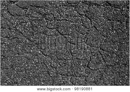 Old asphalt layer - textured road background