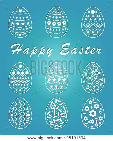 Easter Eggs Vector Set - Illustration - Eps 10