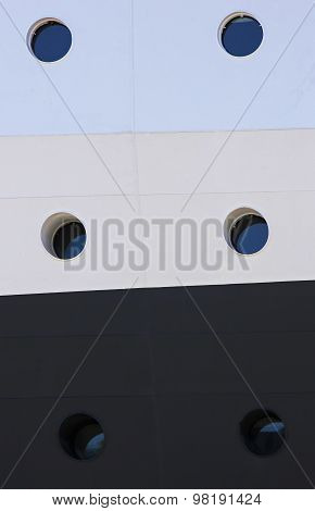 Cruise Ship Side Portholes