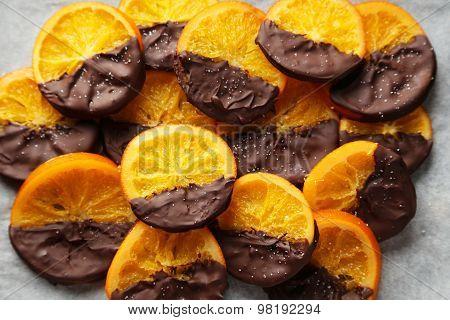 Delicious slices of orange