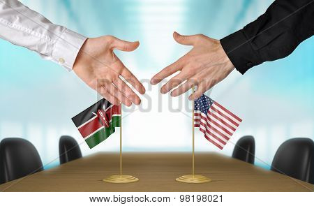 Kenya and United States diplomats agreeing on a deal