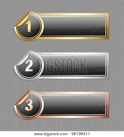 Metallic Sticker Banners