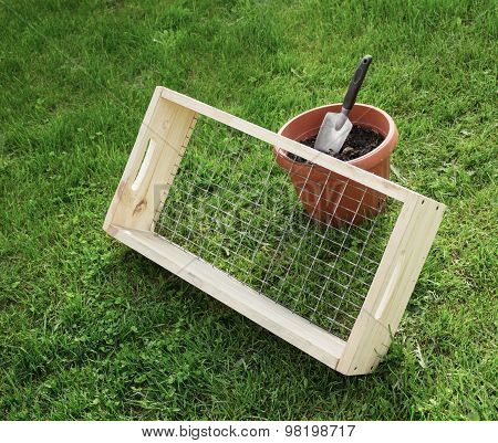 Sieve For Garden Works And Scoop