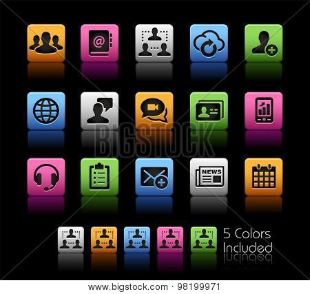 Business Network Technology // ColorBox Series ---- The Vector file includes 5 color versions for each icon in different layers --