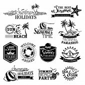 Постер, плакат: Vector Set Of Summer And Travel Designs