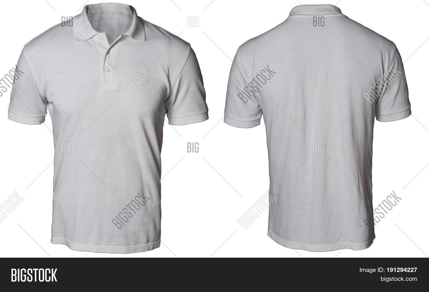 T shirt plain white front and back - Blank Polo Shirt Mock Up Template Front And Back View Isolated On White Plain Gray T