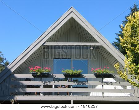 Traditional Triangle Shape Scandinavian Danish House