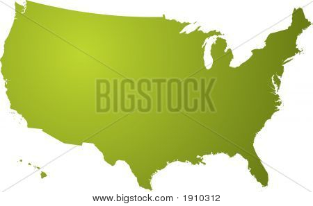 Us Map Green