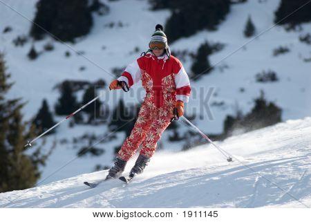 Chica de esquí