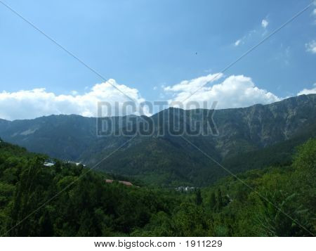 Ukraine. Southern Coast Of Crimea. Mountains, The Sky, Clouds.