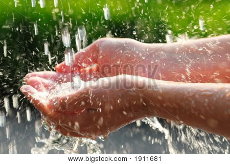 Hands And Water