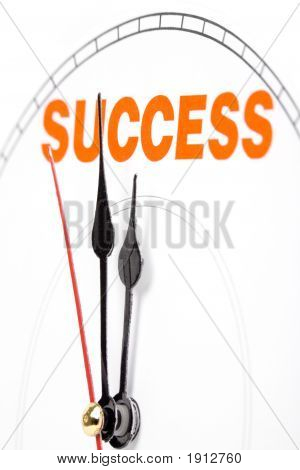 Clock Face, Concept Of Success