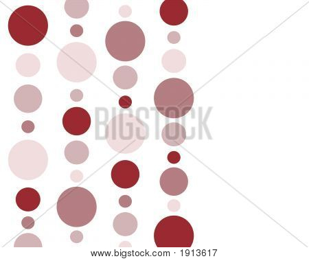 Red Polka Dots Background