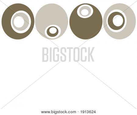 Retro Brown And Tan Circles Background