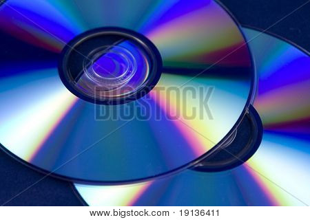 Closeup of CD / DVD