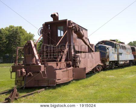Vintage Railroad Construction Car