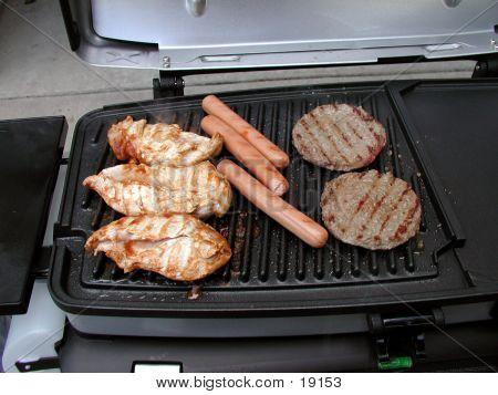 Chicken, Hotdogs And Hamburgers