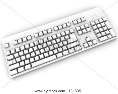 Keyboard. 3D