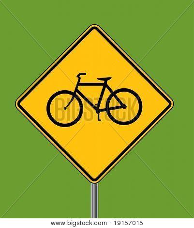 Bicycles ahead warning sign
