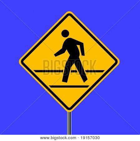 Fußgängerzone Verkehrszeichen - Vektor