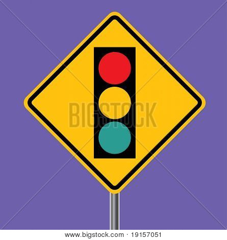 Traffic Light Ahead - VECTOR