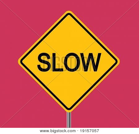 Slow traffic sign - VECTOR