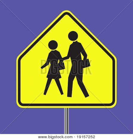School warning sign - VECTOR