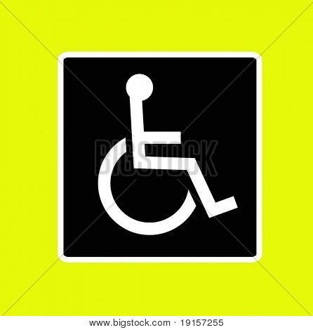 wheel chair access sign - VECTOR
