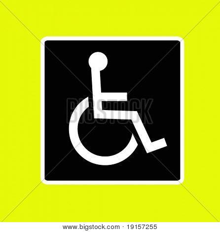 wheel chair access sign - VECTOR