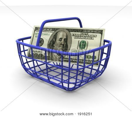 Consumer'S Basket With Handred Dollars