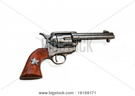 vintage old west gun isolated on white