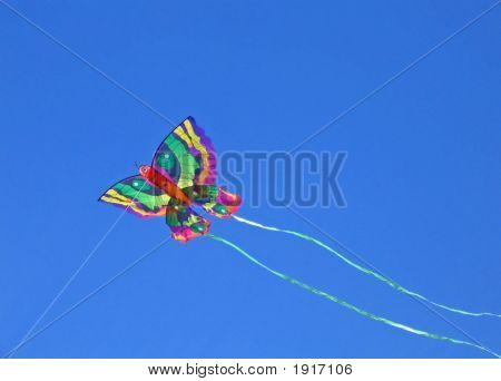 Butterfly Kite In Flight