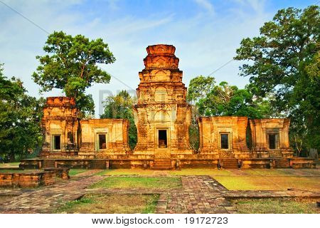 Temple in the jungle. Angkor. Cambodia