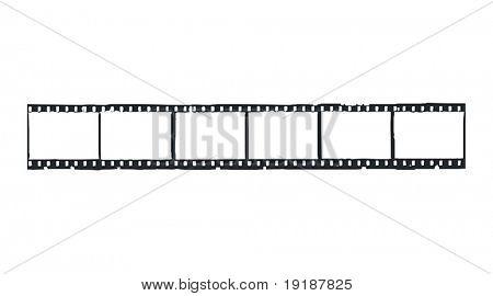 Straight filmstrip vector.