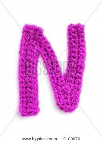 ein Buchstabe stricken handgemachte alphabet