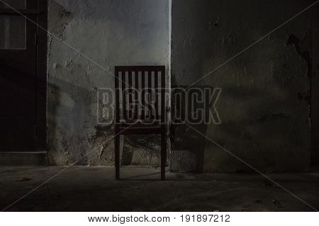 Abandoned chair in