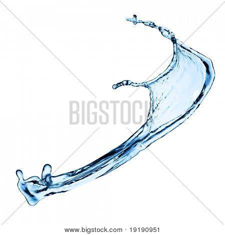 Photo of water splash isolated on white
