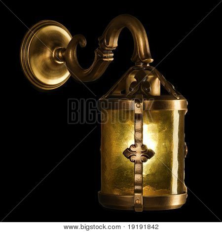 Antique lamp isolated