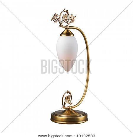 vintage table lamp isolated on white