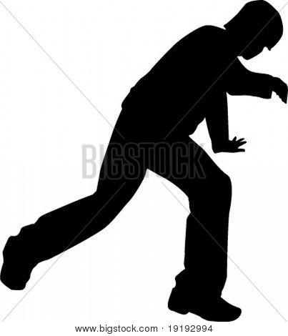silueta de breakdance de la persona