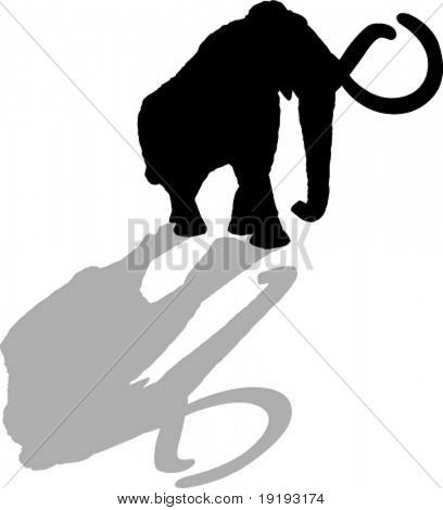 wooly mammoth silhouette dinosaur